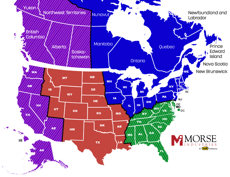 Morse Industries_Sales Region Map_Web