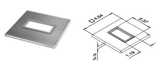 Rect 4512 Core Cover Plate
