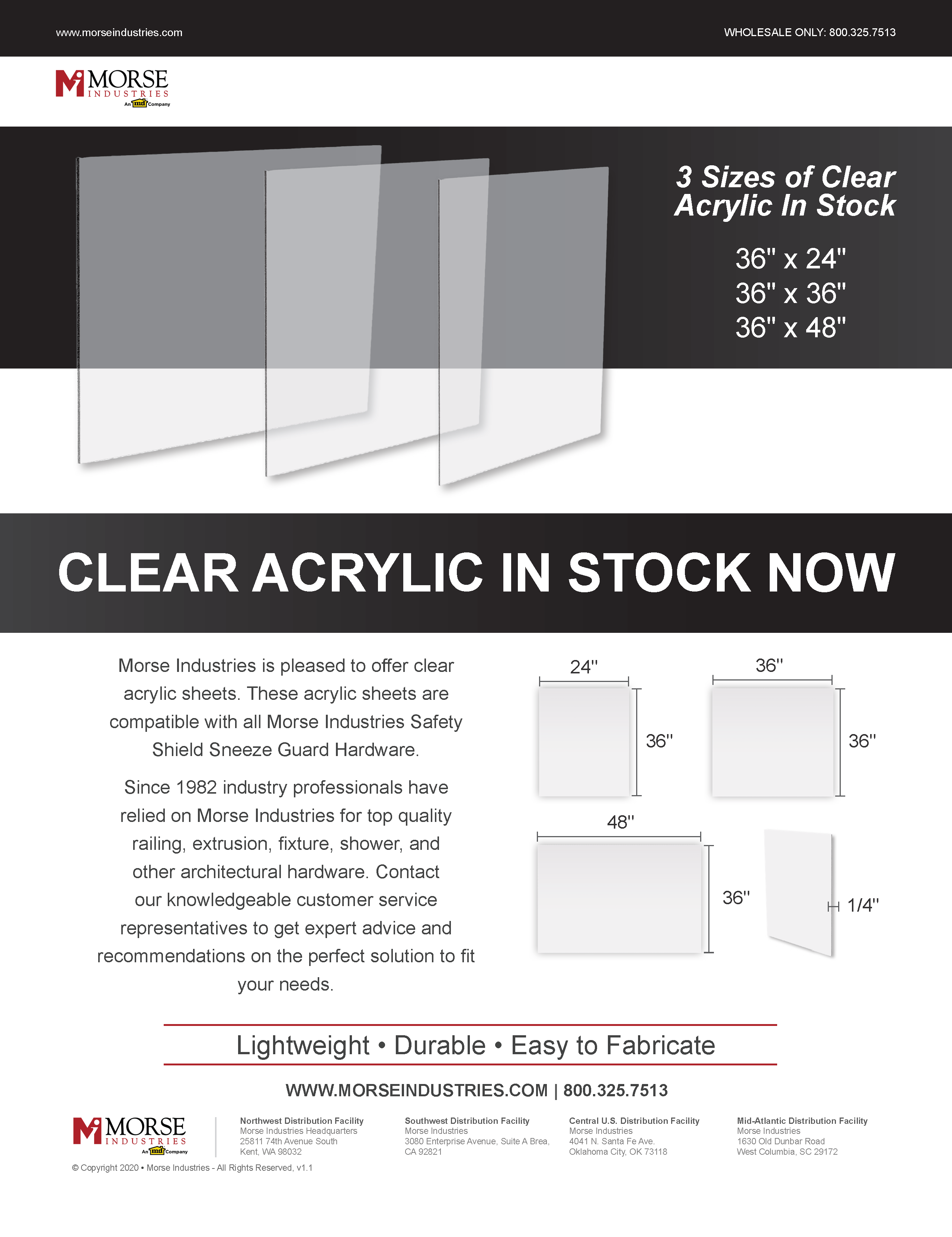 Clear Plexiglass Flyer