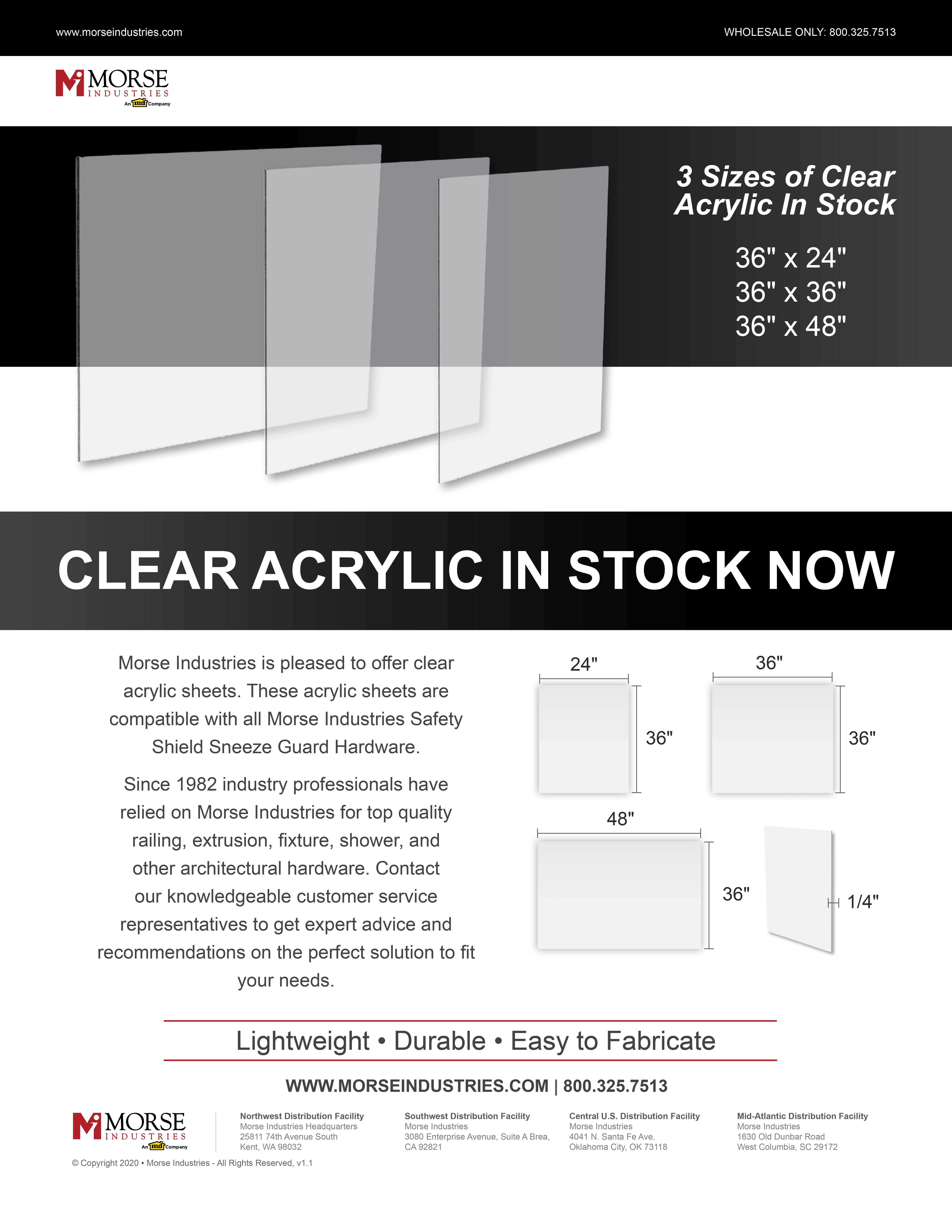 Clear Acrylic Promotional Flyer