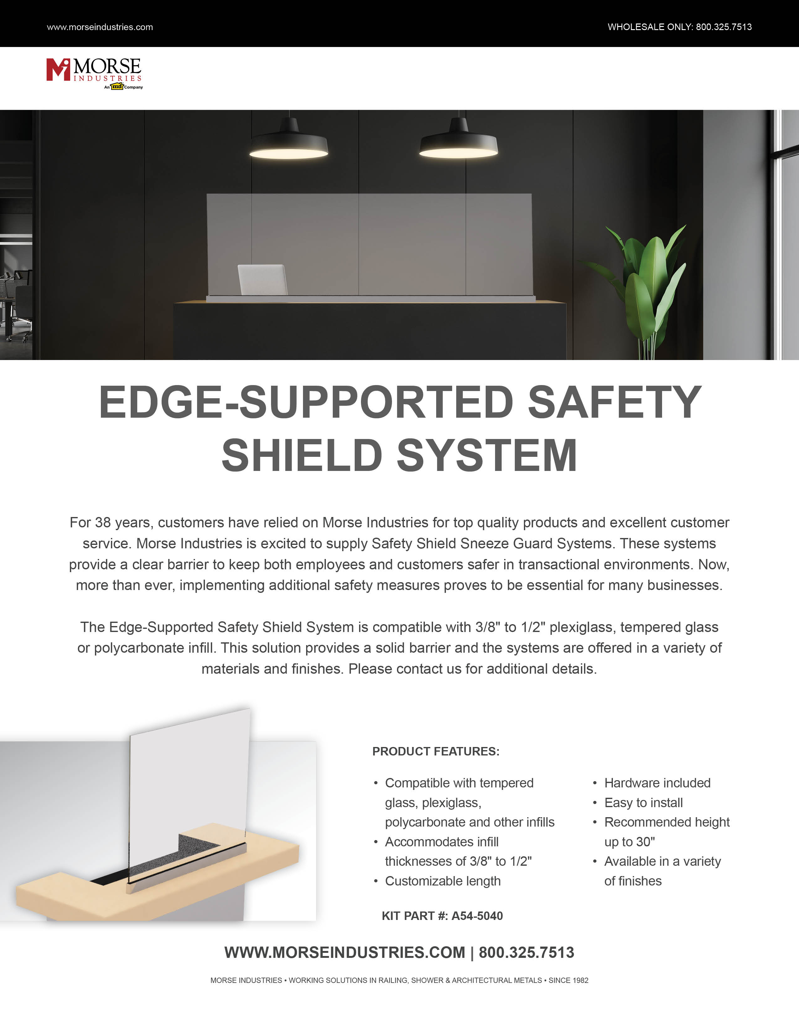 Edge-Supported Safety Shield