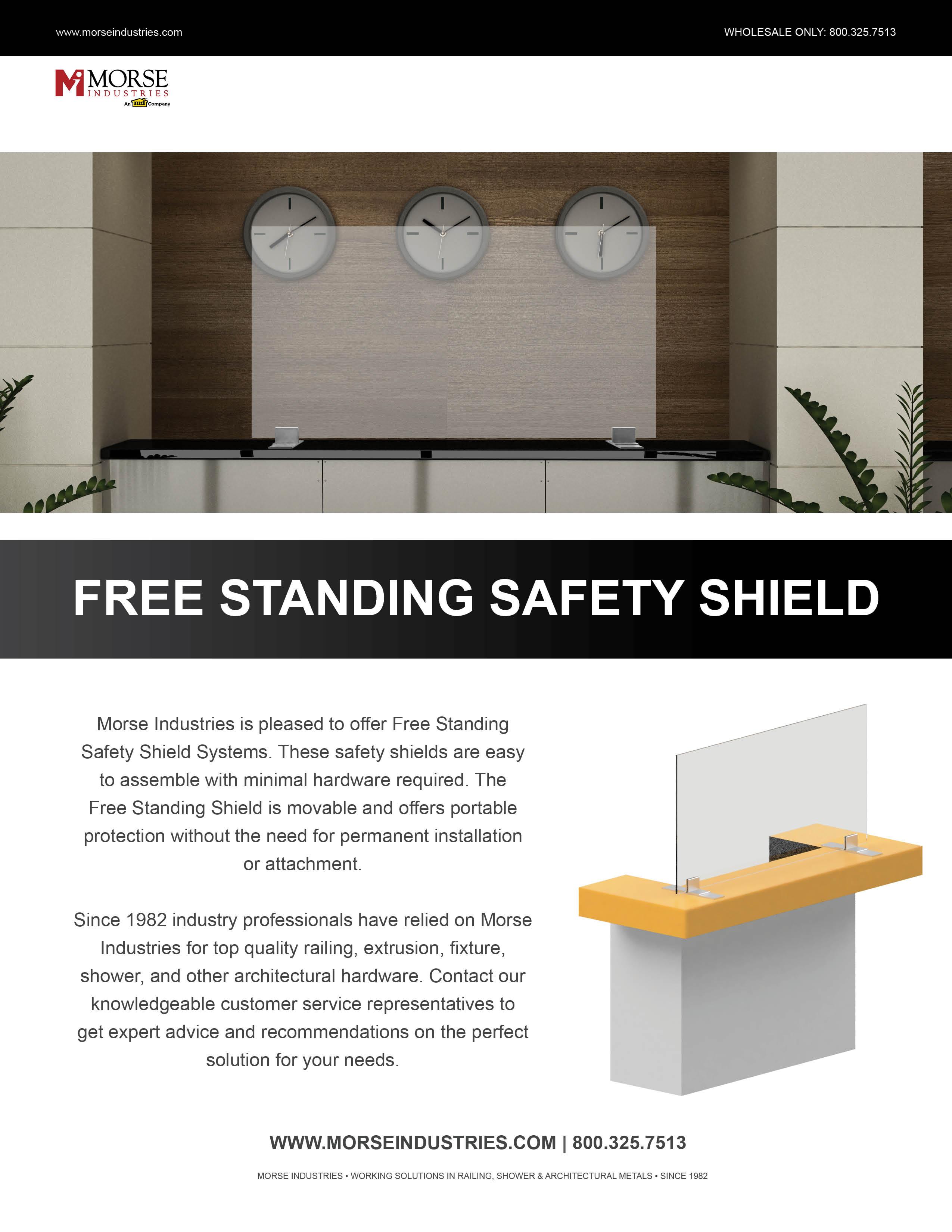 Free Standing Safety Shield