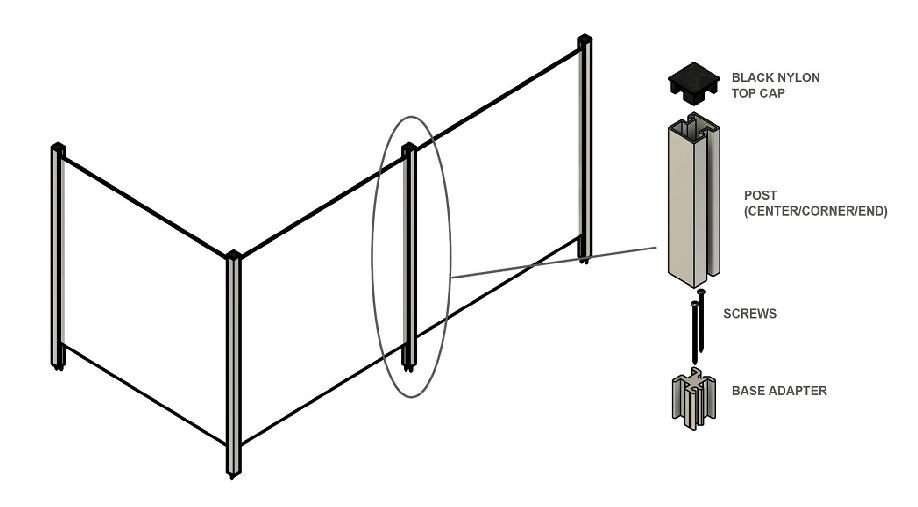 Partition Post System Diagram 1