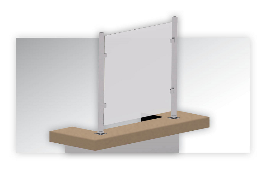 Square post safety shield system